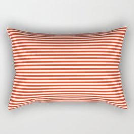 TINY STRIPE ((cherry red)) Rectangular Pillow