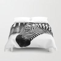 zebra Duvet Covers featuring Zebra by Regan's World