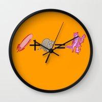 rocket raccoon Wall Clocks featuring Rocket+Raccoon by Rachcox