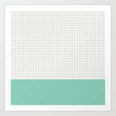 Mint and black spot Art Print