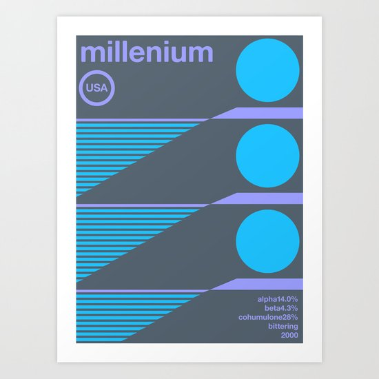 millenium single hop Art Print