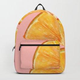 half orange Backpack