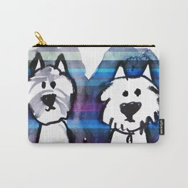 Two very serious Westies Carry-All Pouch
