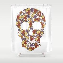 Flower Skull Shower Curtain