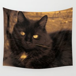 Golden Eyed Kitty Wall Tapestry