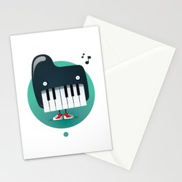 Piano Monster Stationery Cards