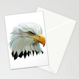 Artistic Polygon Bald Eagle Stationery Cards