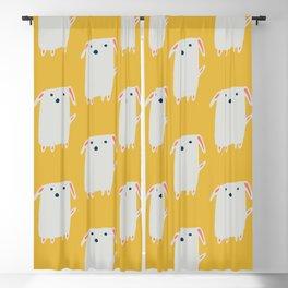Cute sweet Dog Yellow Blackout Curtain