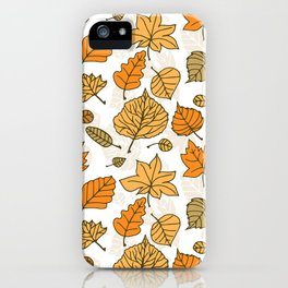 Autumn pattern iPhone Case