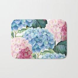 Pink Blue Hydrangea Bath Mat