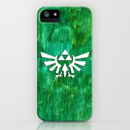 Zelda Triforce Painting iPhone Case