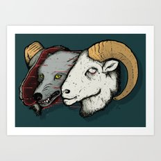 Sheep Skin Art Print
