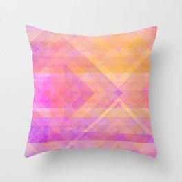 Sunset Diamonds Throw Pillow
