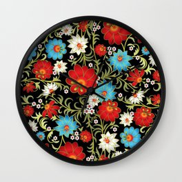 Art Flowers V6 Wall Clock