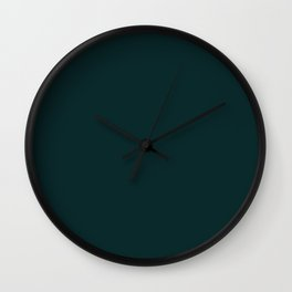 Sparkling Water ~ Dark Green-Blue Wall Clock