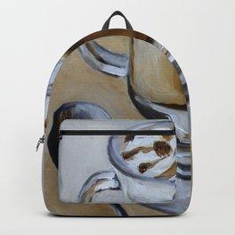 Coffee latte, original oil painting, art Backpack