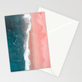 Turquoise Sea Pastel Beach Stationery Cards