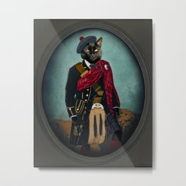 Boris the Bruce, Mouser-in-Chief Metal Print