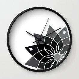 Gray flower Wall Clock