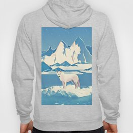 Wolf and the blue mountain Hoody