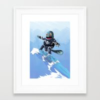 squirtle Framed Art Prints featuring WATERBENDING SQUIRTLE by DROIDMONKEY