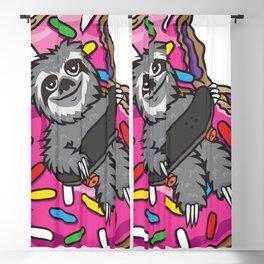 Sloth Skate Donut Blackout Curtain