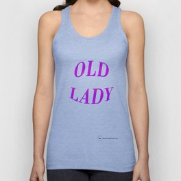Old Lady Pink/Purple Ombre Glitter  Unisex Tank Top