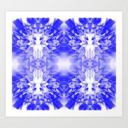 Dandelions Boldblue Art Print