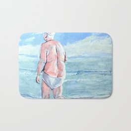 droopy drawers Bath Mat