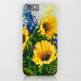 Sunflowers Oil Painting iPhone Case
