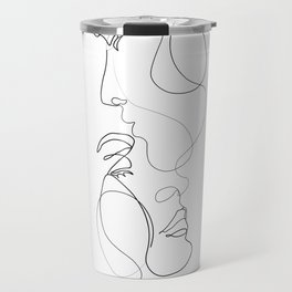 Lovers - Minimal Line Drawing Art Print 2 Travel Mug