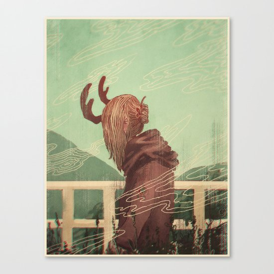 Last Year's Antlers Canvas Print