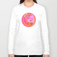 icecream Long Sleeve T-shirts featuring Mr  Icecream by Helenasia