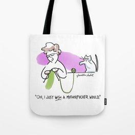 Motherfucking Knitter Tote Bag