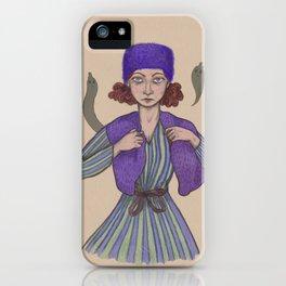 blueberry lady iPhone Case