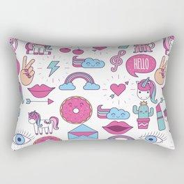 Cute Girly Pink Pattern Rectangular Pillow