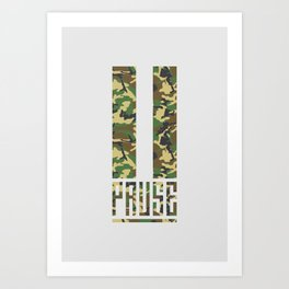 PAUSE – Camo Art Print
