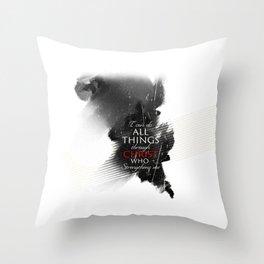 Phi 4:13 Throw Pillow