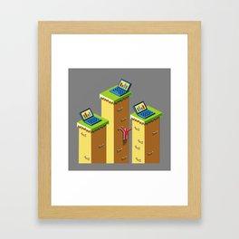 Platforms Framed Art Print