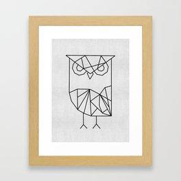 Owl Graphic Framed Art Print