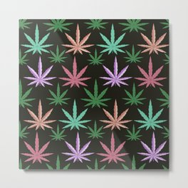 Marijuana Muted Colors Metal Print