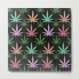 Marijuana Muted Colors Metal Print