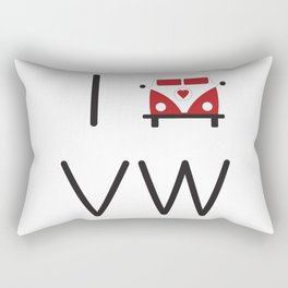 I heart Campervans Rectangular Pillow