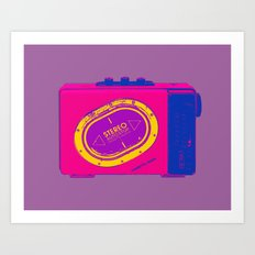 FAVOURITE90 - Walkman Pink Art Print