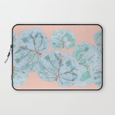 Tropical Sea Grape Leaves Laptop Sleeve