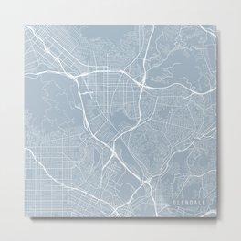 Glendale Map, USA - Slate Metal Print