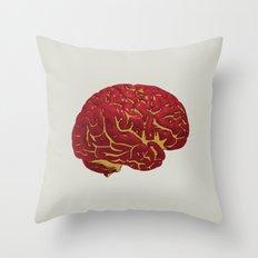 Brain of a Superhero - Iron Man Throw Pillow
