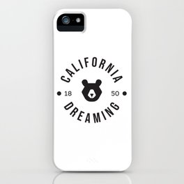 California Dreaming Minimalist Bear iPhone Case