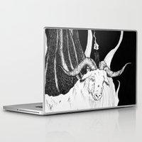 baphomet Laptop & iPad Skins featuring Sabbat - Goat Detail  by Peczulis