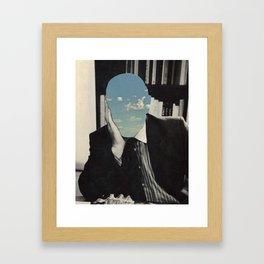 a little cloudy Framed Art Print